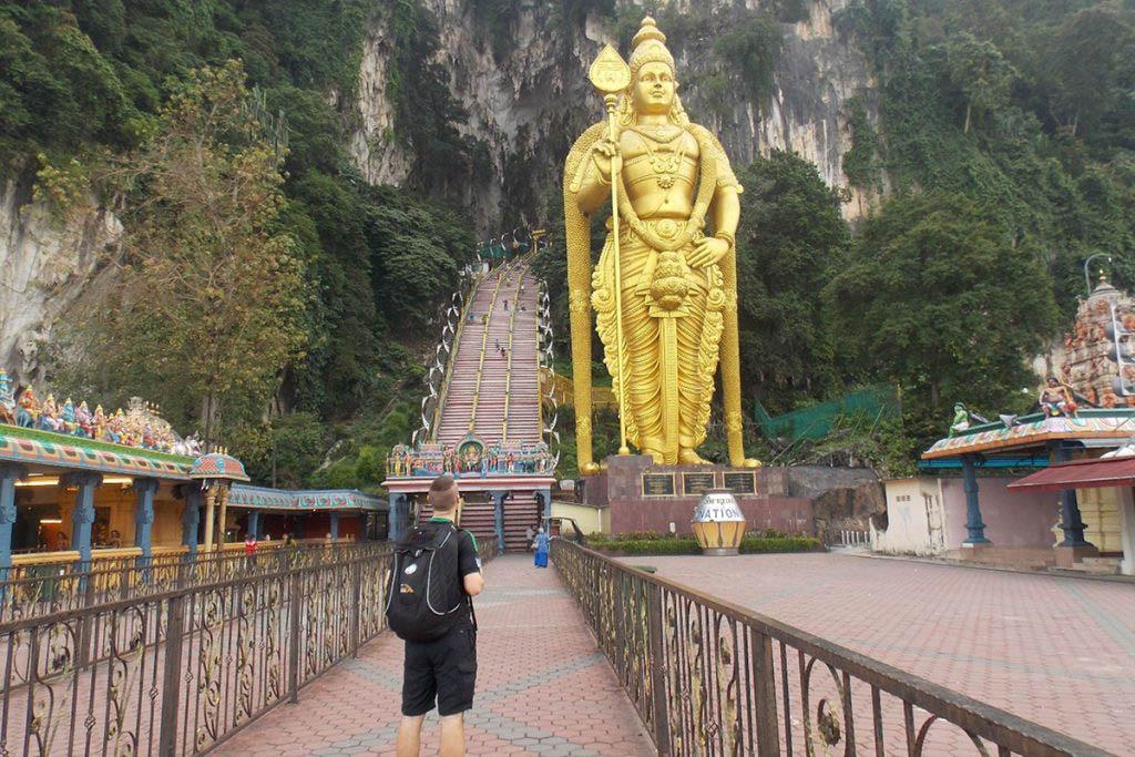 Alan visited the Batu Caves in Kuala Lumpur, Malaysia, on his career break