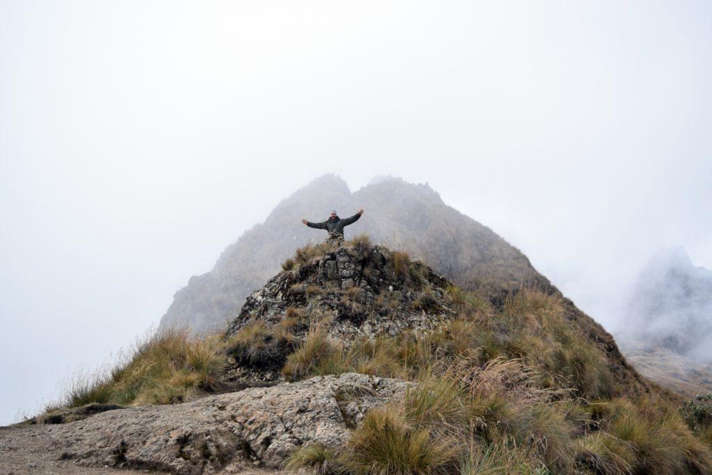 Alex at Dead Womans Pass Inca Trail