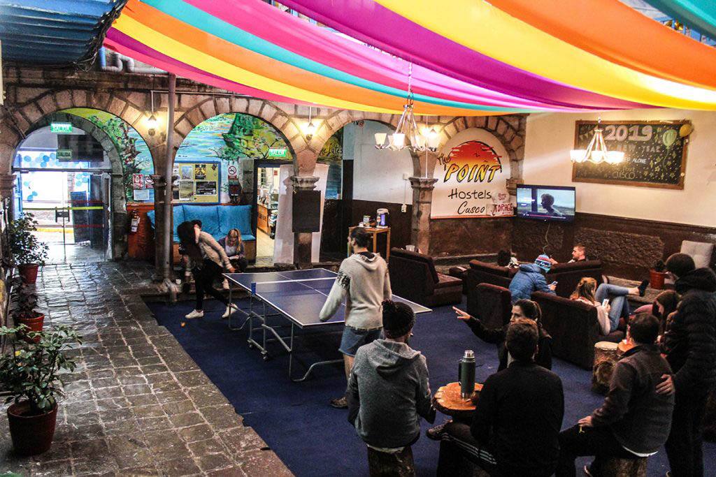 The Point is a lively hostel in a great location close to the Plaza de Armas