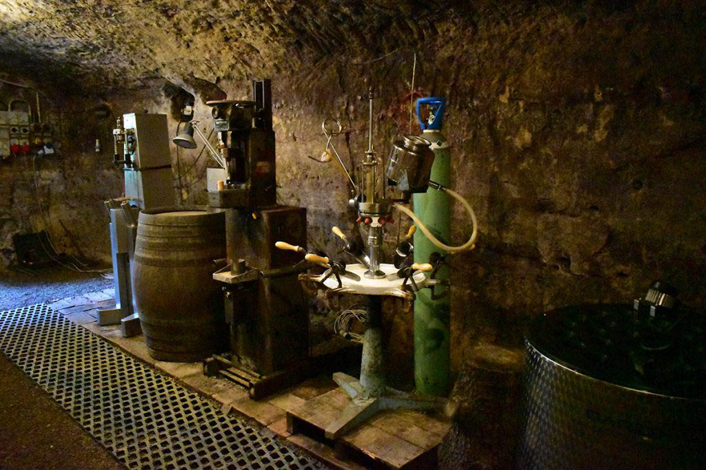 The wine cellars of Decugnano dei Barbi were originally dug out by monks in the 13th century