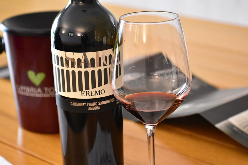 Eremo, a blend of Cabernet Franc and Sangiovese, is one of SAIO's most popular wines