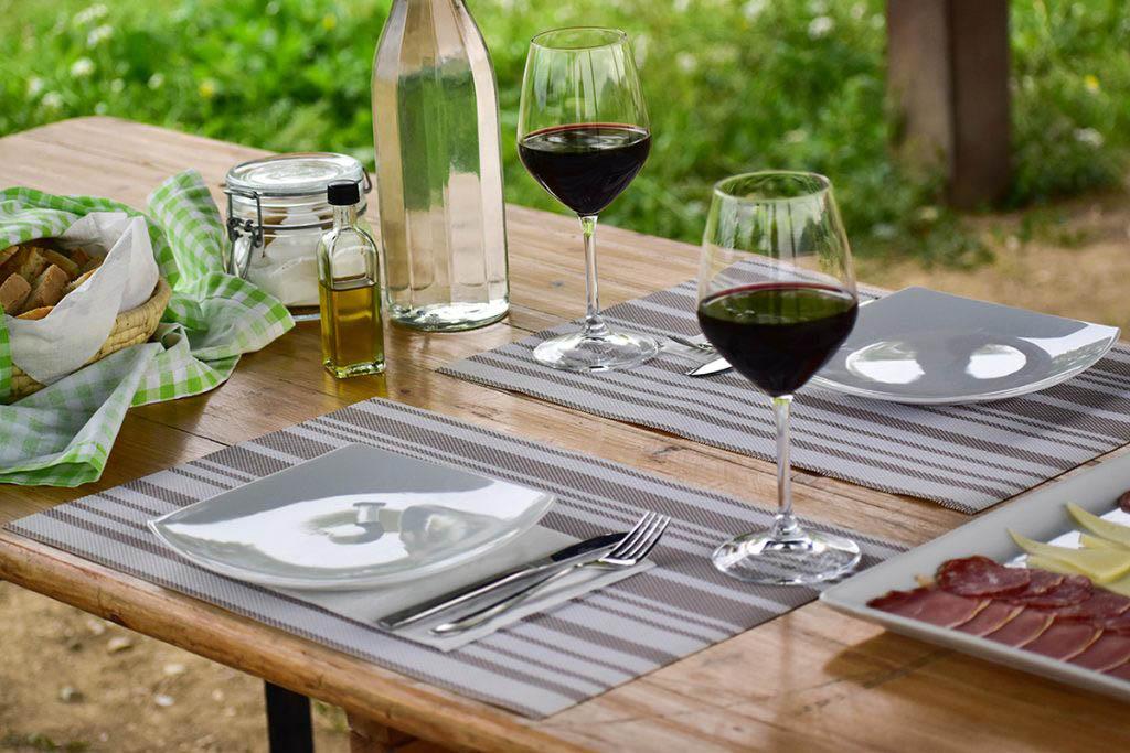 We enjoyed a picnic on SAIO's estate after trekking through the vineyards