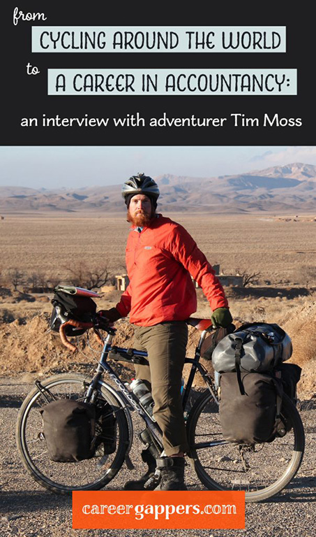 The Next Challenge founder Tim Moss discusses balancing adventure with his new accountancy career, and his 13,000-mile cycling journey around the world. #careerbreak #travelcareerbreak #adventurestories #travelstories #inspiringpeople