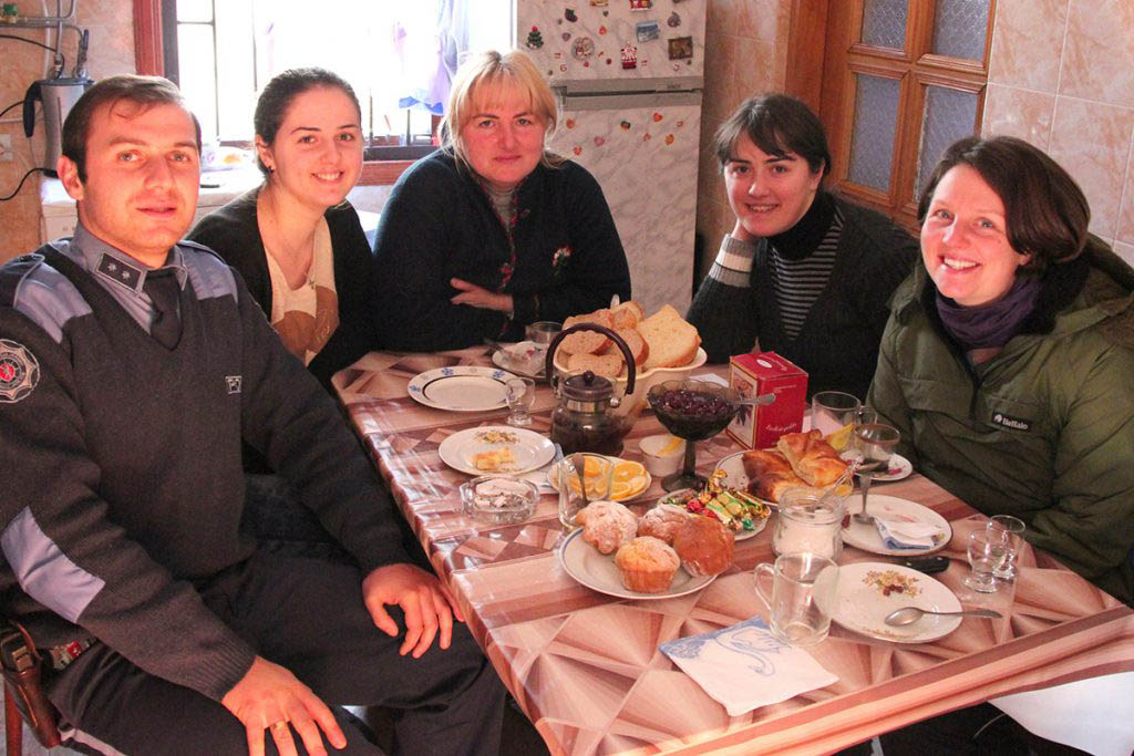 Laura and Tim were hosted by a family in Georgia –they found people welcoming everywhere they went