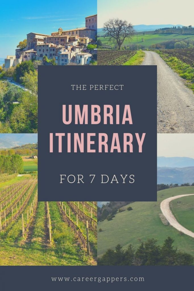Umbria, the 'green heart of Italy', is a beautiful and underrated region. This Umbria travel itinerary covers the best things to do and see in seven days. #umbria #umbriatravel #travelitineraries #italytravel #italyitinerary