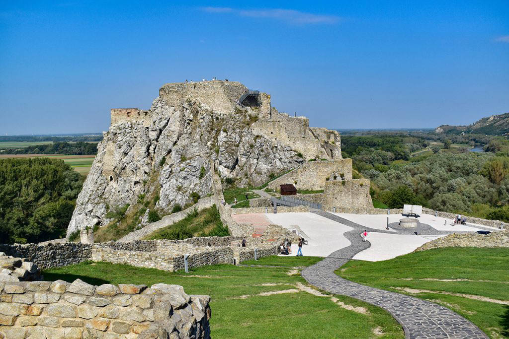 Devín Castle, on the confluence of the Danube and Morava rivers, is one of Slovakia's oldest castles
