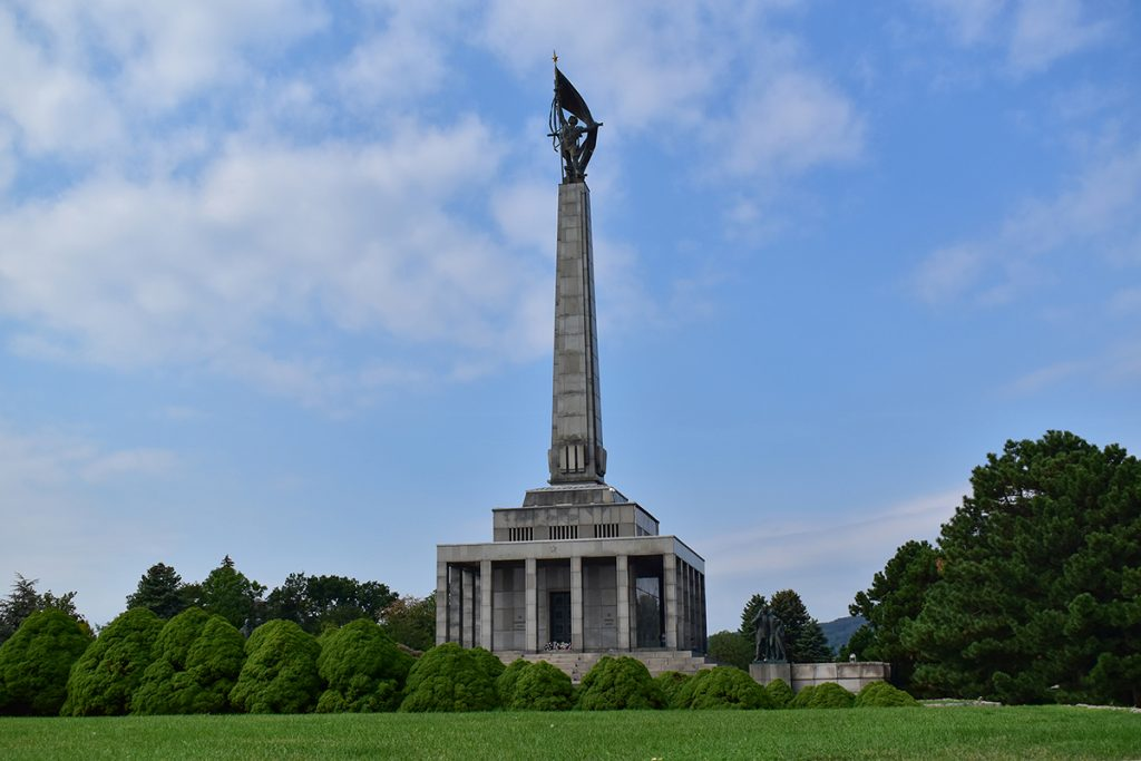 The Slavín memorial is a burial ground for thousands of soldiers who were killed at the end of World War II