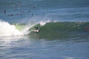 Surfer in Lima Peru