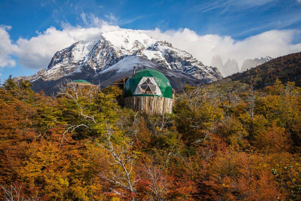 The sustainable eco-domes at EcoCamp Patagonia are a unique place to stay in Torres Del Paine