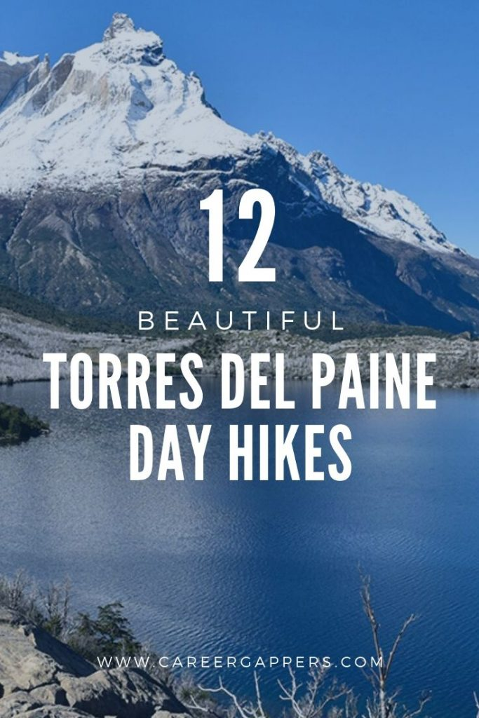 The very best Torres Del Paine day hikes for people of all abilities, including information on distance, time, difficulty, location and where to stay. #torresdelpaine #lastorres #patagoniahikes #greyglacier #patagoniahiking