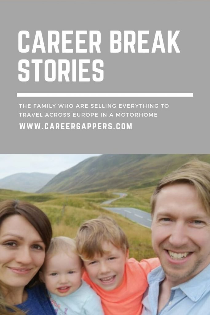 An interview with a family of four from Lincolnshire, UK – also known as Marmalade Tour – who are selling everything to travel across Europe in a motorhome. #familytravel #careerbreak #homeschooling #familyadventures #vanlife