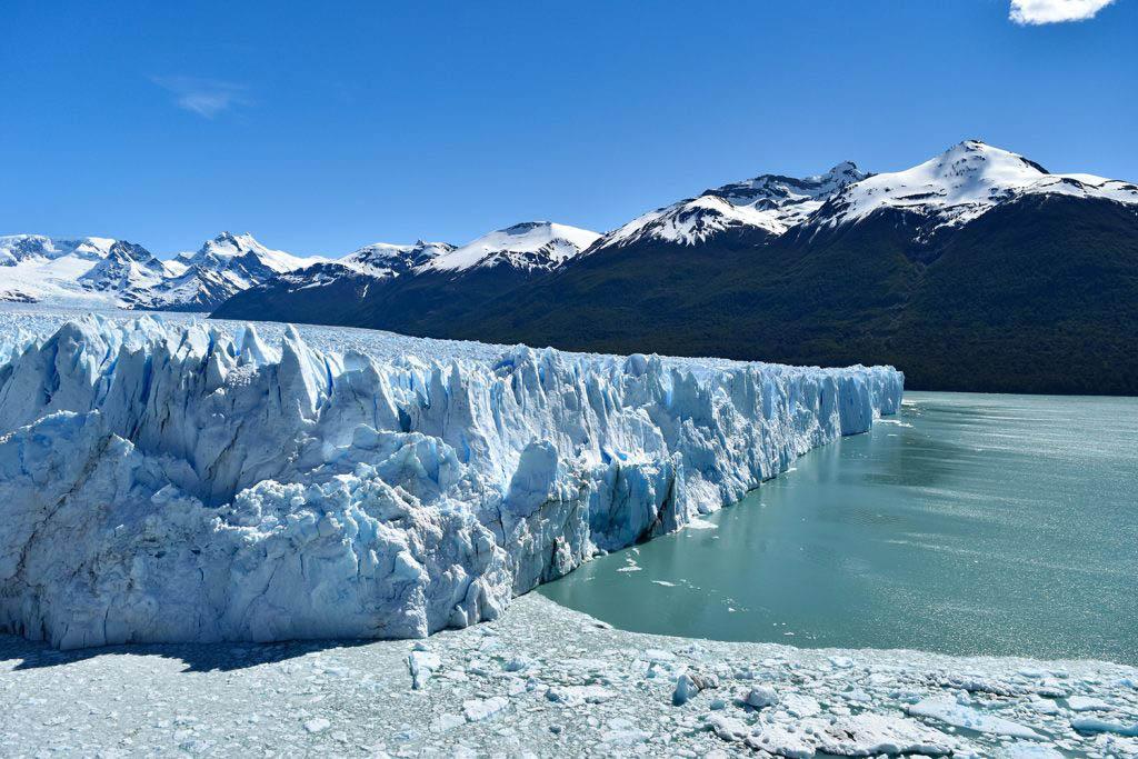 The spectacular Perito Moreno Glacier in profile
