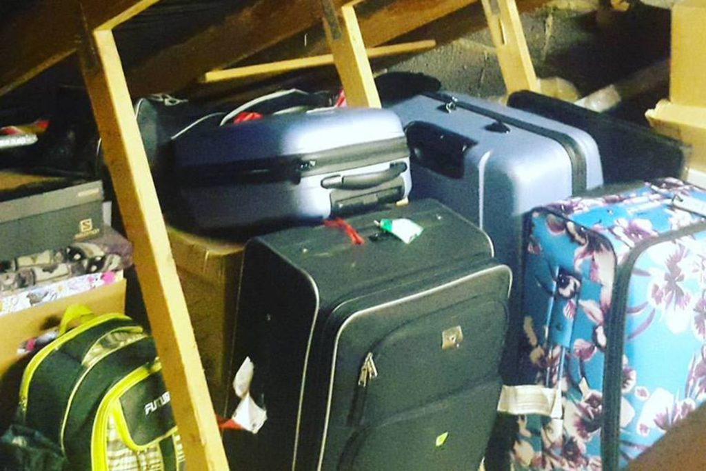 Our friends let us use space in their loft, so we didn't need to use long-term storage