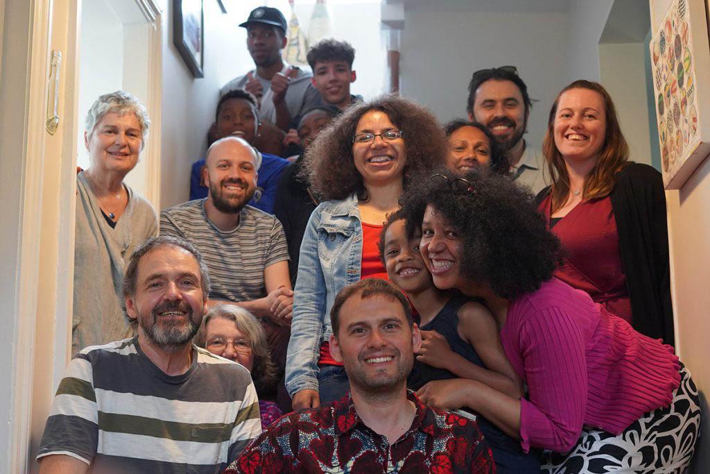 Family photo at Nana 100 celebration