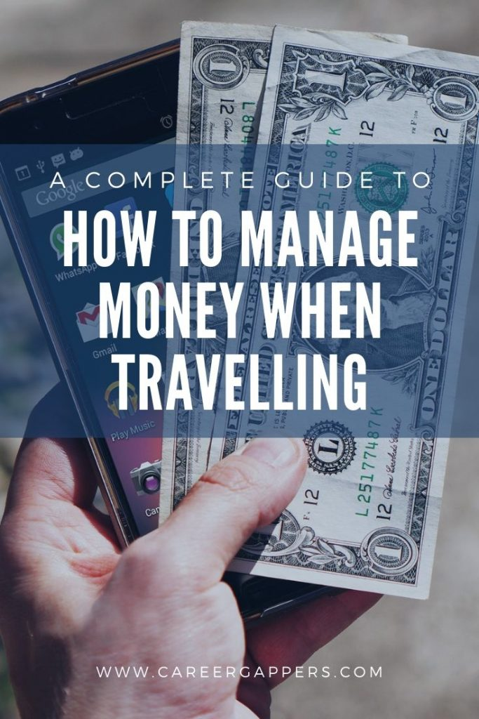 A complete guide to how to manage money when travelling, including pre-trip financial admin, tools and tips while on the road, and keeping your cash safe. #travelmoney #travelbudget #managingmoney #managingyourmoney #budgettravel