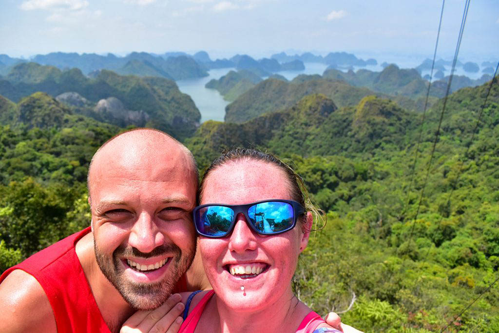 We treated ourselves to a cruise on Halong Bay, Vietnam, in the final days of our round-the-world trip