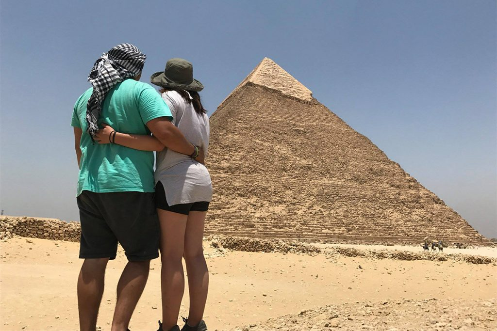 Ashly and Carlos Egyptian Pyramids