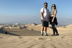 Ashly and Carlos desert