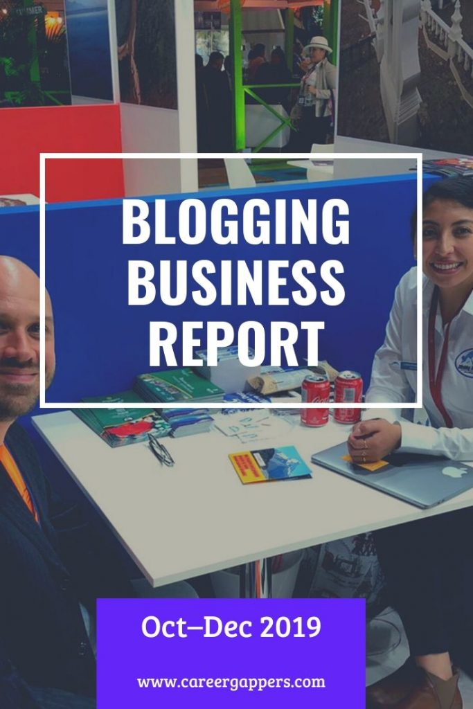 Every three months we report on progress as we attempt to build a thriving travel blogging business. This is our business report for October–December 2019. #blogging #travelblogging #incomereport #travelblog #businessreport