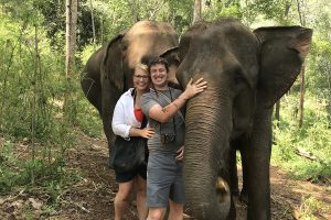 Learning About Elephants in Chiang Mai, Thailand