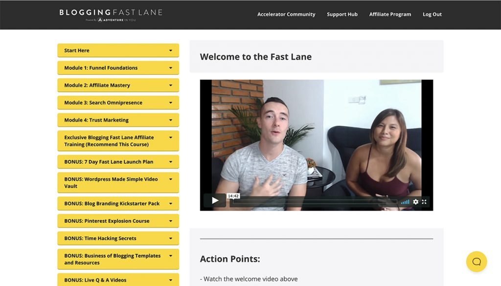 Adventure in You Blogging Fast Lane welcome video