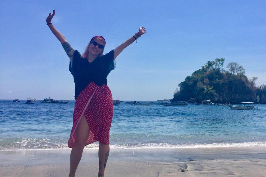 Katie King Bali beach