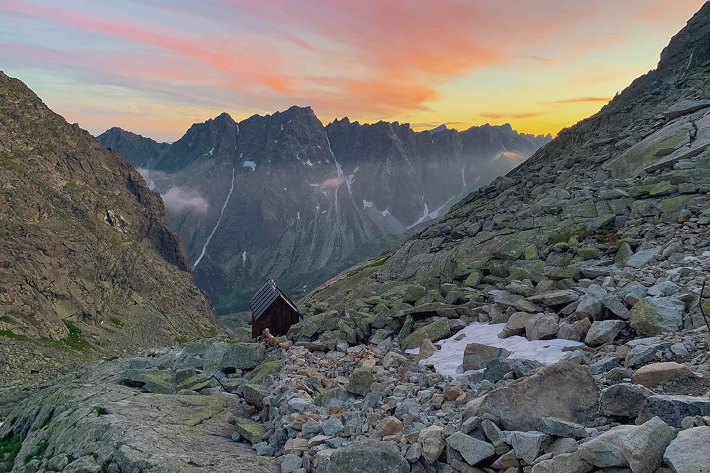 Sunset Chata pod Rysmi Tatra Mountains