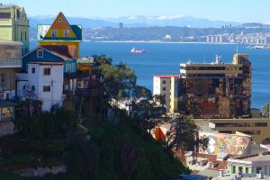 View from top of the funicular Valparaíso