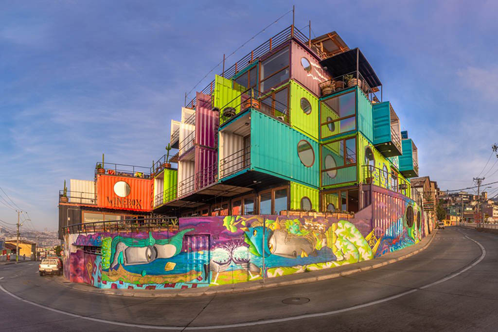 Winebox Valparaíso is the most recycled hotel in the Americas