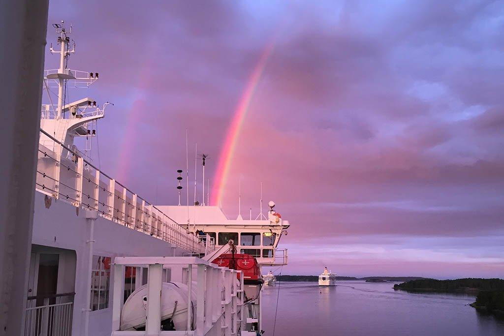 Double rainbow in the Balitc Sea