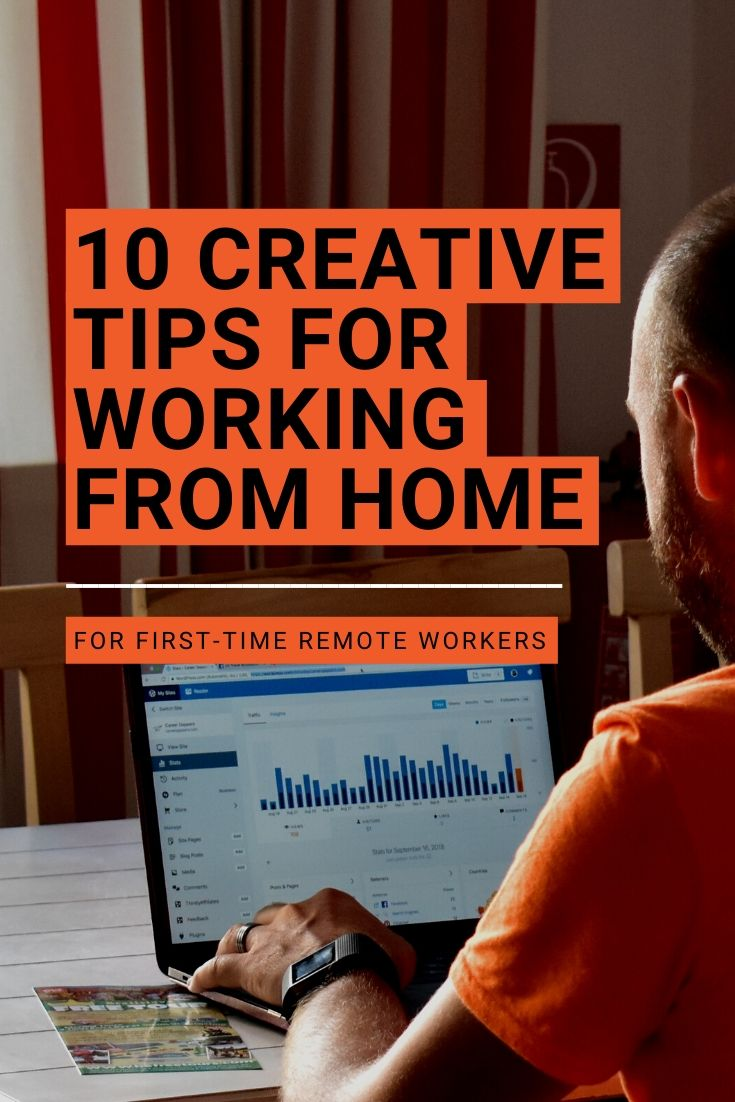 Working from home for the first time? These creative productivity tips will help you get the most out of your time and energy. #workingfromhome #productivity #productivitytips #workfromhome #howtobeproductive