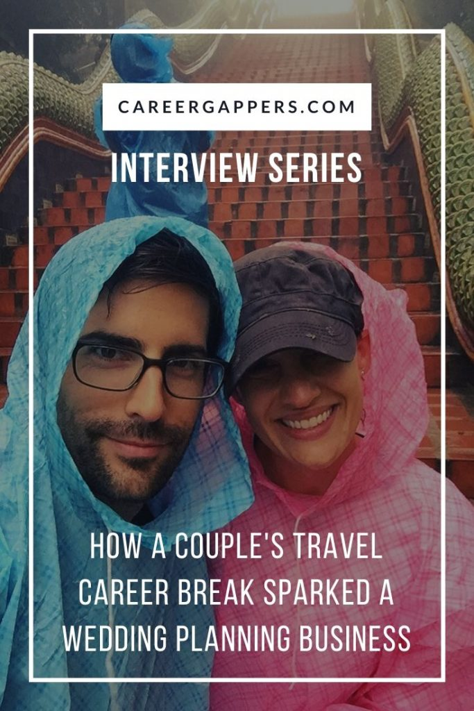 Sarah Prinz and her husband took a three-month break to travel in Europe and Asia. Inspired after returning home, she founded a wedding planning business. #careerbreak #sabbatical #travelsabbatical #careerchange #travelcareerbreak