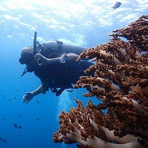 Alex scuba diving Bali