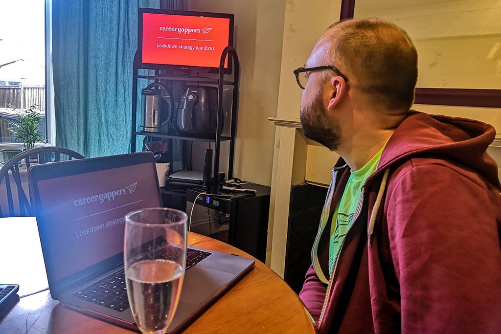 Exploring the way forward with our blogging strategy over some birthday bubbles