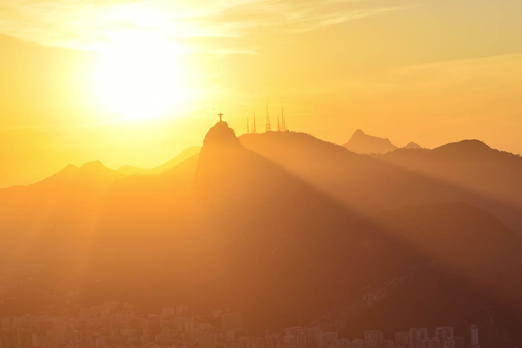 South America bucket list: Christ the Redeemer view from Sugarloaf Brazil