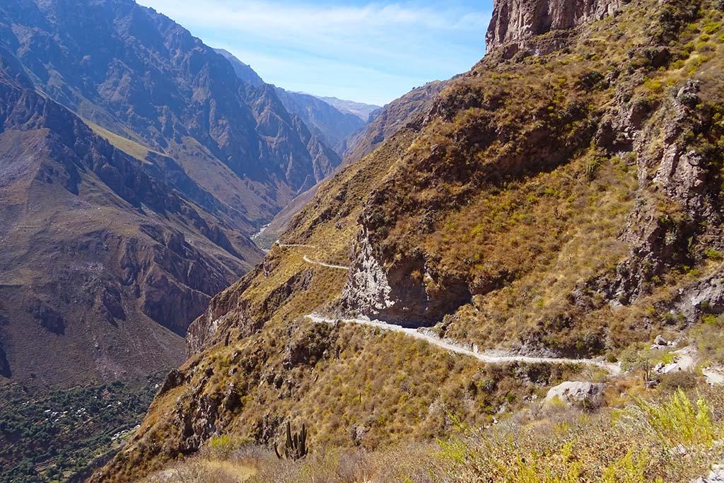 Colca Canyon path Peru