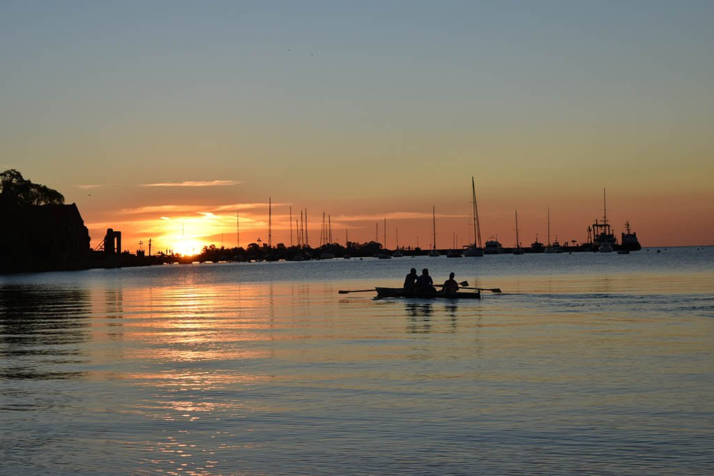 Colonia sunset Uruguay