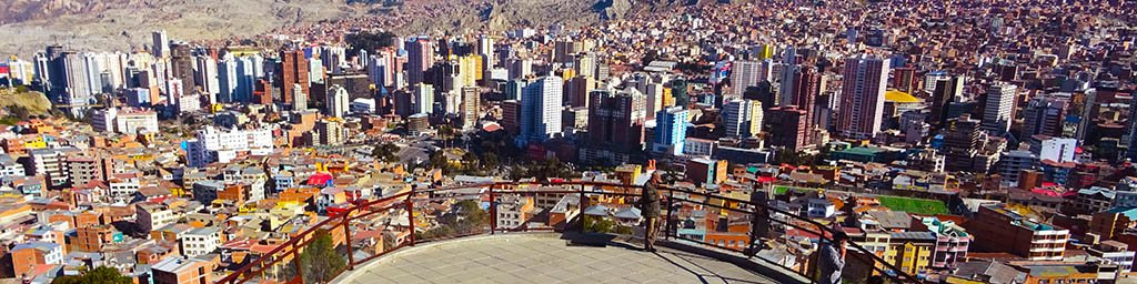 Backpacking in Bolivia: La Paz view from Mirador Killi Killi