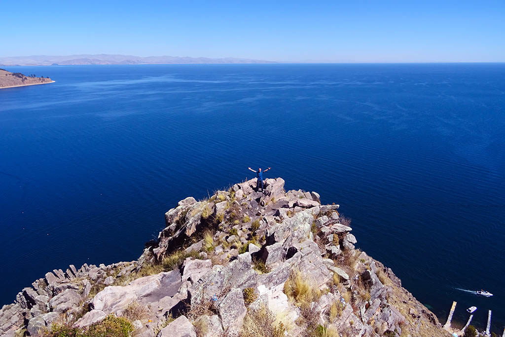 Lake Titicaca is one of the most famous lakes in South America, straddling Peru and Bolivia