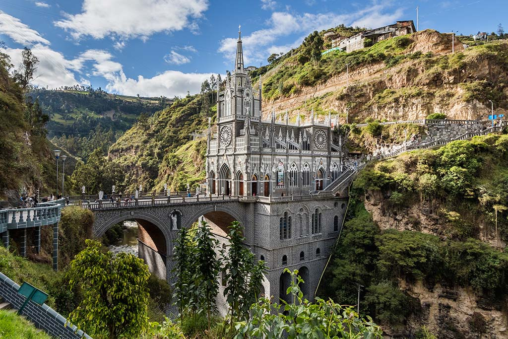 South America bucket list: Las Lajas Sanctuary Colombia