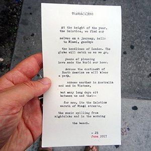 Street poem Miami