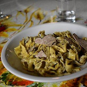 Truffle pasta Umbria Italy