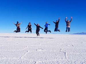 Uyuni salt flats tour group