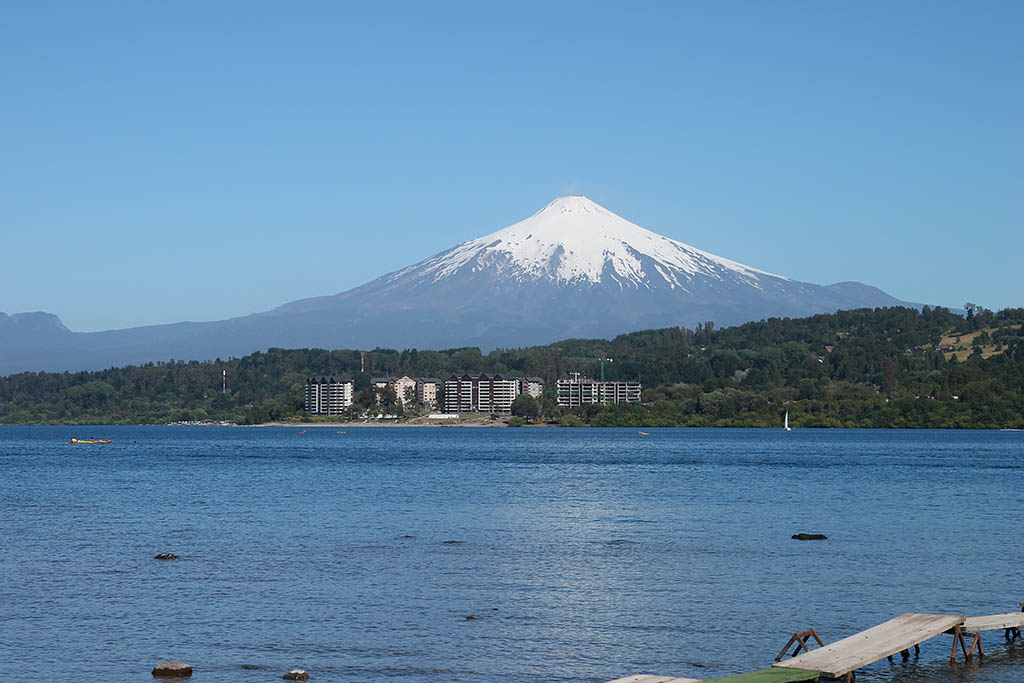 Villarrica Lake and Volcano Chile