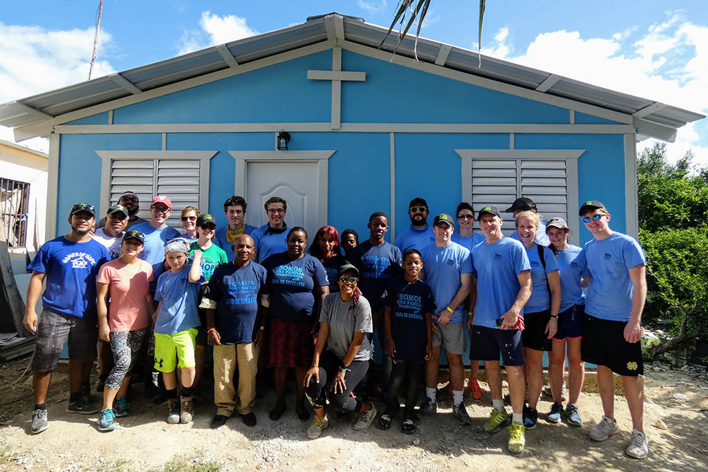 Building a house with Youth with a Mission