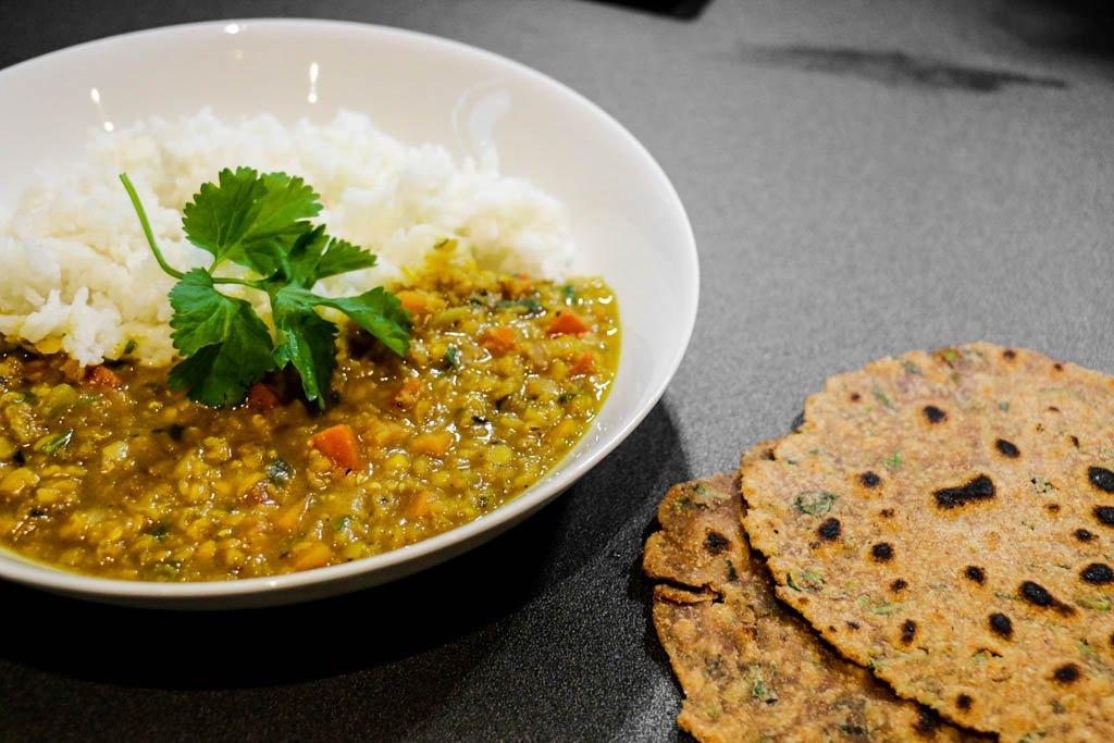 Red lentil dahl India