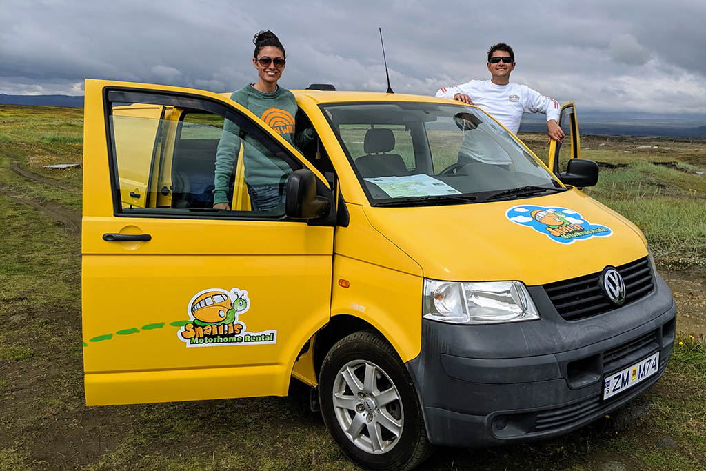 Erin and partner Iceland campervan rental