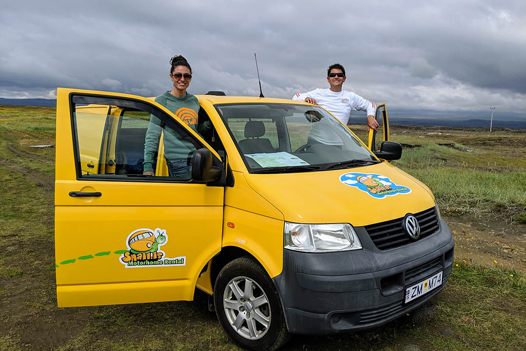 Erin and partner Iceland campervan trip