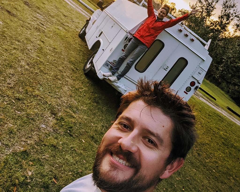 Erin and partner campervan