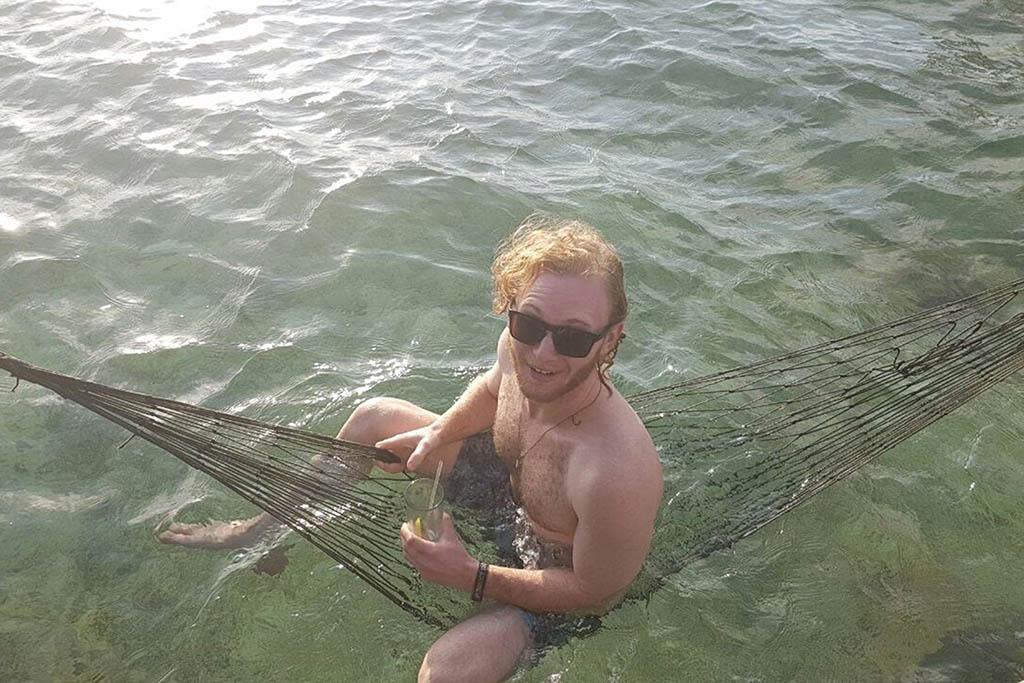 Guy in Bocas Del Toro, Panama, during his career break adventure